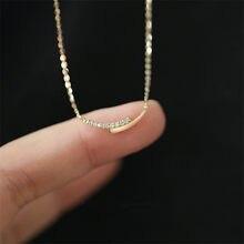 925 Sterling Silber 14K Gold Pavé Kristall Kreuzung Anhänger Schlüsselbein Kette Halskette Frauen Einfache Schmuck Zubehör
