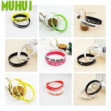 2pcs/set Kpop IKON VIXX NUEST FTISLAND Bracelets Silicone Sport Bracelet Best Friend Jewelry Gift B071