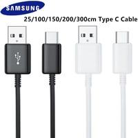 Original 25cm/200cm/300cm USB tipo C USB 3,1 de carga rápida Cable de datos para Samsung Galaxy A31 A41 A51 A71 5G S20 S10 S9 S8 más Note8