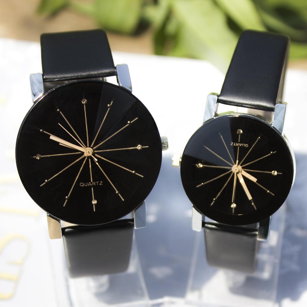 2019 New Fashion Couple Watches Korean Style Watch Ladies And Men Clock Erkek Kol Saati Casual Quartz Leather Band Wristwatches