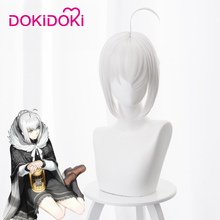 DokiDoki Anime Coslay Wig Lord El-Melloi II Case Files: Rail Zeppelin Grace Note Gray Cosplay Women Short Grey Hair