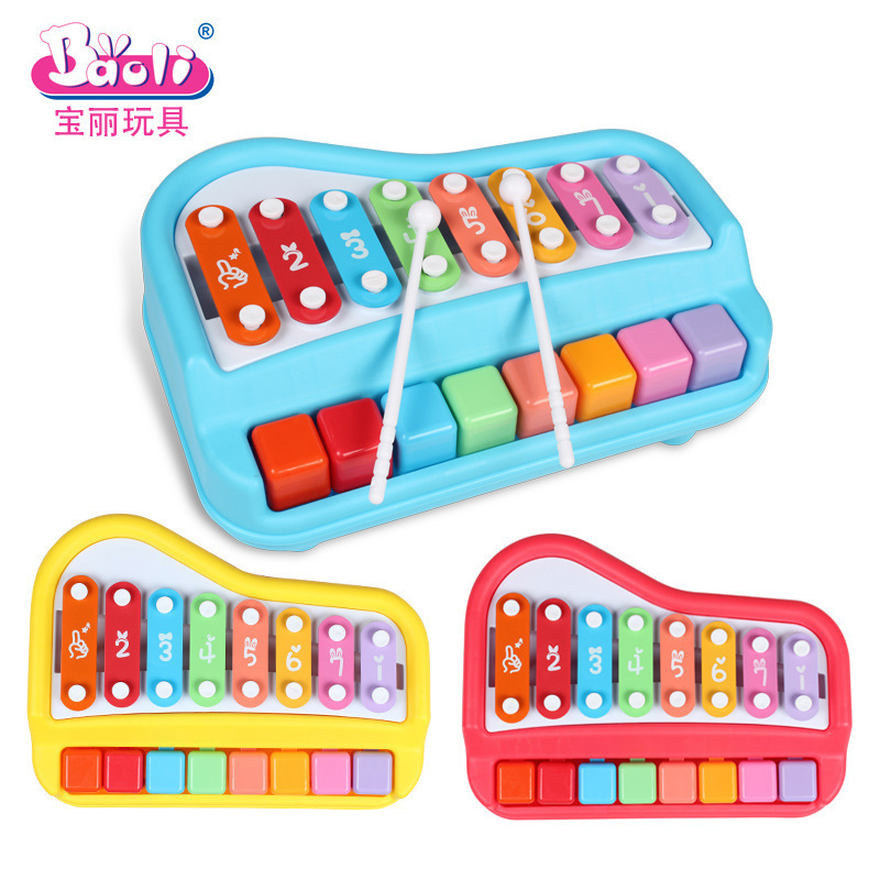Polaroid Educational Xylophone Toy Piano Infant Young CHILDREN'S Baby Music Toy Aged 1-2 Years 3 Octave Knock Piano Toy