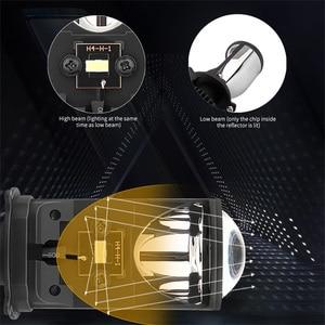 Image 3 - Canbus 90 W/Pair מנורת H4 LED מיני מקרן עדשת Automobles הנורה 14000LM המרת ערכת Hi/Lo קרן פנס 12V/24V RHD LHD