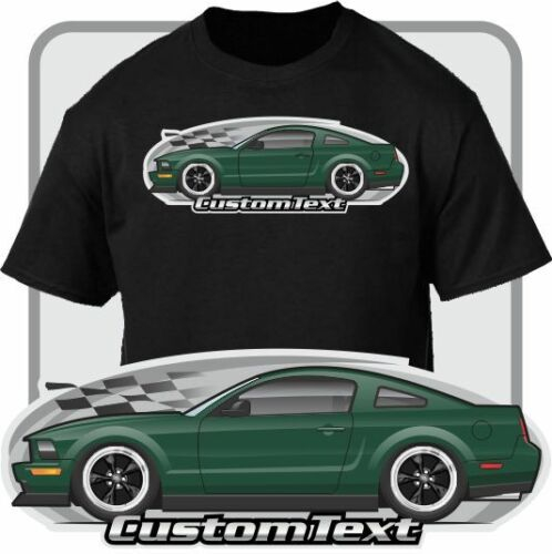 Custom Art T-Shirt 08 2008 09 2009 GT Bullitt Not Affiliated With