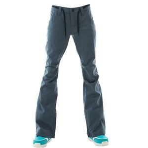 Image 4 - Marke NEUE Schnee Hose Snowboarden Anzug Tragen 15k Wasserdichte Winddicht Atmungsaktiv Winter Outdoor Sport Skifahren Hosen für Frauen