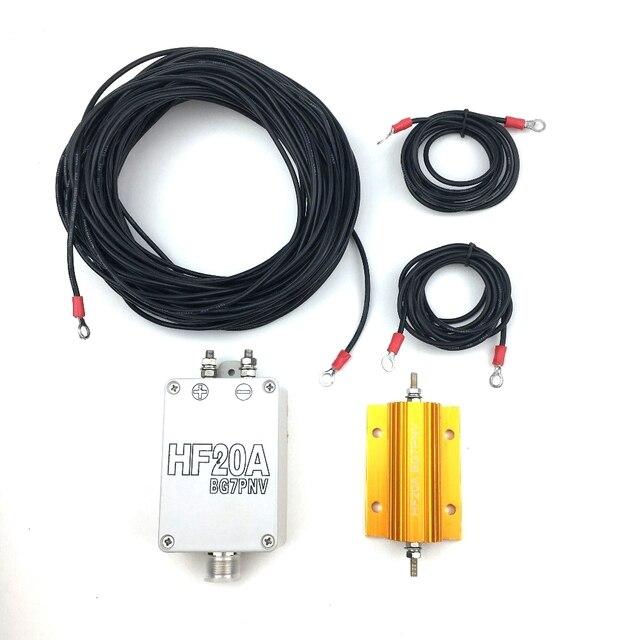 Antena de onda corta HF20A, 1,5 30Mhz, banda completa, sin persianas, antena de onda corta, estación de radio para exteriores, accesorios para walkie talkie