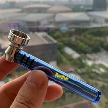Honeypuff  Premium Glass Smoke  Pipe With Clear Handle 93MM