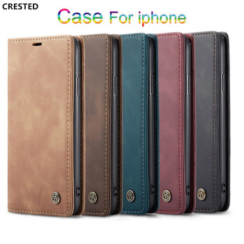 Retro Leather Wallet Case For iPhone 11pro XS Max XR Phone Cases Cover For iphone X 8 7 Plus 6 6s plus Case Accessories