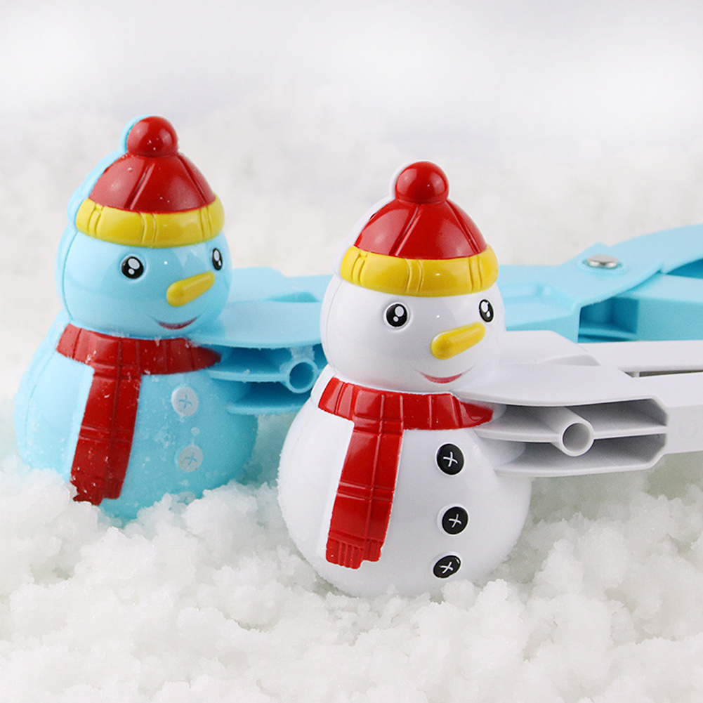 Snowball Pliers Creative Snowman Making Tool Winter Outdoors Children Kids Snow Ball Maker Clip Random Color