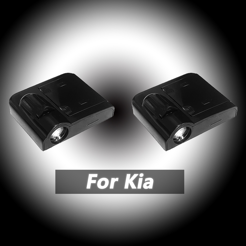Para kia carro conduziu a porta bem-vinda logotipo luz laser sombra projetor luz para kia optima k5 cerato sorento k2 k3 sportage