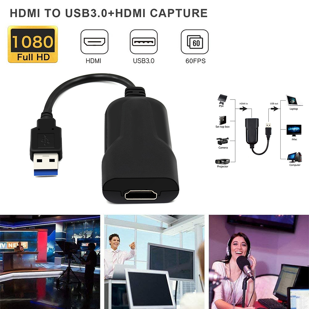Mini Video Capture Card USB 3.0 HDMI Video Grabber Record Box For PS4 Game DVD Camcorder HD Camera Recording Live Streaming