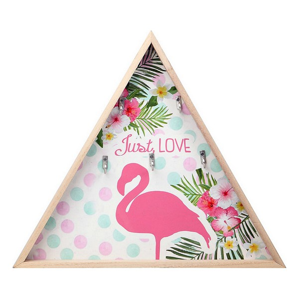 Настенная вешалка для пальто, розовый фламенко (34,5x4x34,5 см) 114868