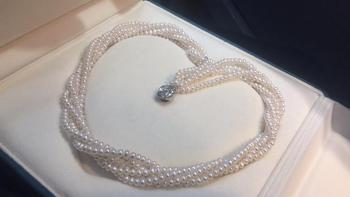 Pearls Necklaces 1106 Fine Jewelry Natural Fresh Water White Peals Necklaces 3-4mm for Women Fine Pearls Necklaces фото
