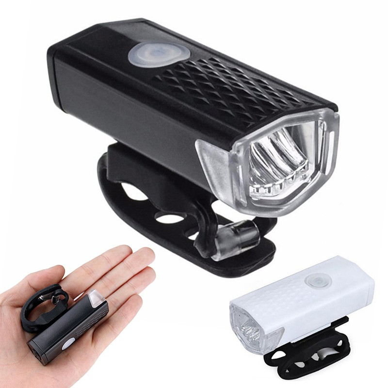Bike Light Usb Rechargeable 300 Lumen 3mode Bicycle Front Headlight Cycling Led