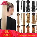JINKAILI 85 см синтетический конский хвост с запахом на клипсе наращивание волос конский хвост термостойкие прямые парики для женщин