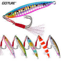Goture 6pcs/set Vertical Jig Bait Fishing Lure 20g 30g Balancer Luminous Stream-lined Design Multiple Color Fishing Tackle