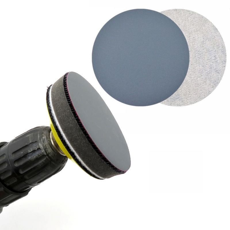 Тени для век Wet & Dry 3-дюймовая пленка круговой шлифовальный Бумага 2500 # Грит песок Бумага аксессуары для полировки