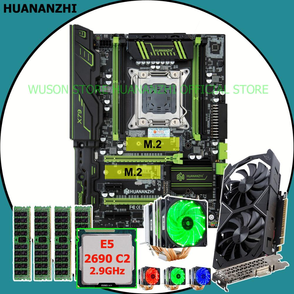 Good HUANANZHI X79 Pro motherboard with dual M.2 slot video card GTX1050Ti 4G CPU Xeon E5 <font><b>2690</b></font> 2.9GHz with cooler RAM 16G(4*4G) image
