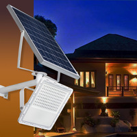 Outdoor Solar Lights Super Bright 72LED Three Control Panel Wide angle Lighting Smart Project Lamp