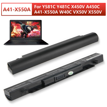 Original Replacement Laptop Battery A41-X550A For ASUS Y581c Y481c X450v X550v A41-X550a W40c A450VB A450VC A450VE A550C A450C 5200mah laptop battery for asus a41 x550 a41 x550a a450 a550 f450 f550 f552 k550 p450 p550 r409 x450 x550 x550c x550a x550ca