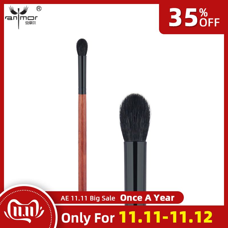 Anmor Makeup Brushes Goat Hair Tapered Blending Brush High Quality Eye Brushes for Daily  Professional Make Up Cosmetic Cleaner