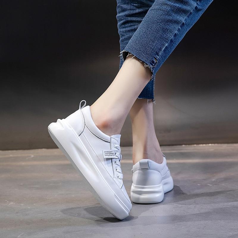 נעלי סניקרס לבנות לנשים סולייה מוגבהת 2