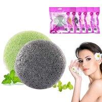 Nueva esponja de colores 6 Puff suave fibra Facial maquillaje lavado almohadilla limpieza esponja Maquillaje Facial lavado almohadilla limpieza esponja Puff exfoliador