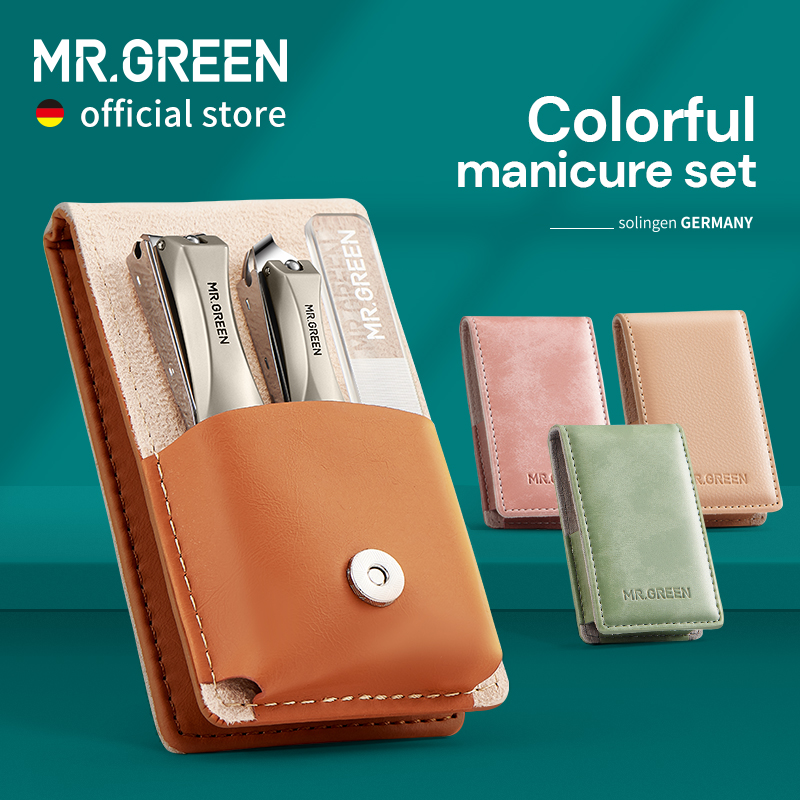 MR.GREEN Manicure Set Surgical Grade Scissors Stainless Nail Clippers Tool Pedicure Set Home Portable Travel Kit Nail Scissor 1