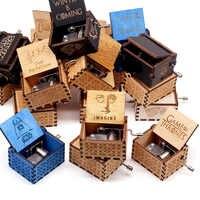 Caja de música negra de mano tema de música juego del trono Caja, castillo en el cielo regalo de cumpleaños para la decoración artesanal del hogar
