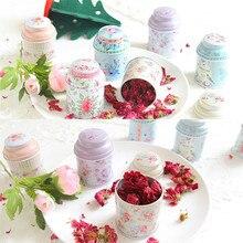 Print Flower Series Metal Tea Box Creative Vintage Style Cut
