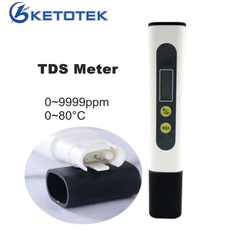 Digital TDS Meter Handheld Water Analyzer 0-9999ppm TDS Tester Thermometer Temperature Meter Filter