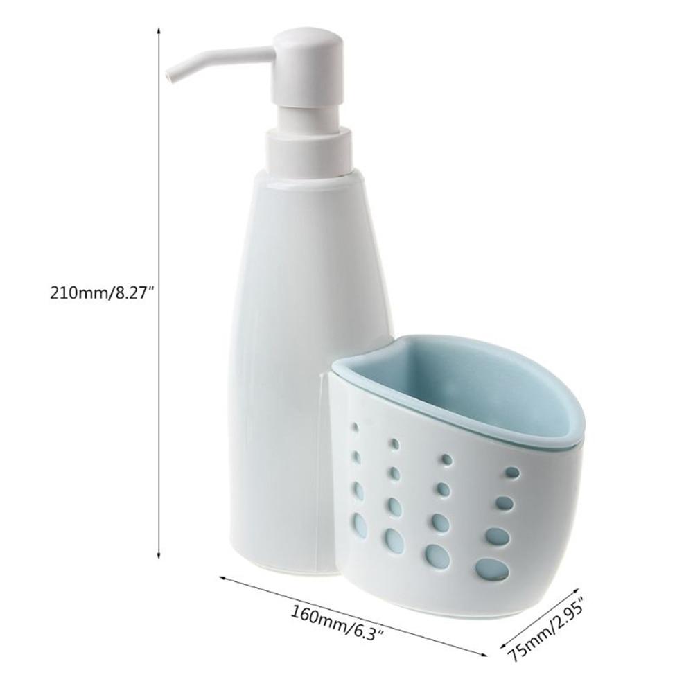 H2005c983d03a44b5b4fc1771225b8b82r Multifunction Kitchen Bathroom Hand Liquid Soap Dispenser Pump Detergent Storage Box Rack Cleaning Sponge Drainboard Soap Holder