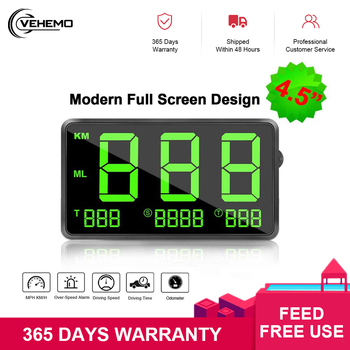 "Large Screen 4.5"" GPS Speedometer Digital Car Speed Display Over Speeding Alarm System Universal For Bike Motorcycle Truck Car"