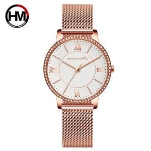 Image 1 - Relojes de pulsera con diamantes de imitación para mujer, de cuarzo japonés, informal, femenino