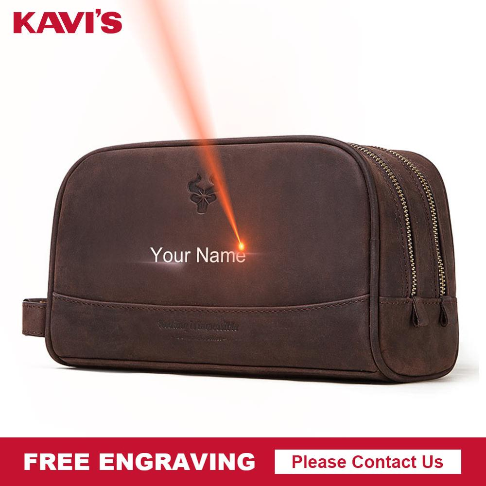 KAVIS Crazy Hoser Handbag Men For Briefcase Male Crossbody Hand Sling O Handles Tote Shoulder Bolsas Hand Bag Engraving Name