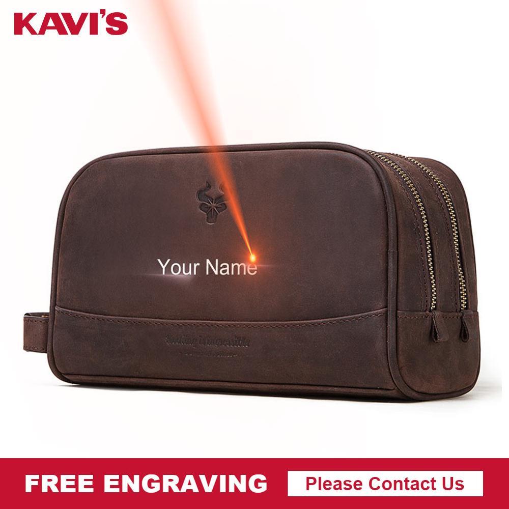 KAVIS Crazy Hoser handbag Men for Briefcase Male Crossbody Hand Sling O handles Tote Shoulder Bolsas hand bag Engraving Name|Briefcases| |  - title=