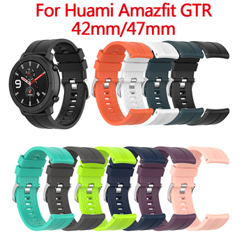 Wrist Strap Silicone Bands Replacement Straps 20/22mm For Xiaomi Huami Amazfit PACE Stratos GTR 42/47mm Smart Watch Accessories image