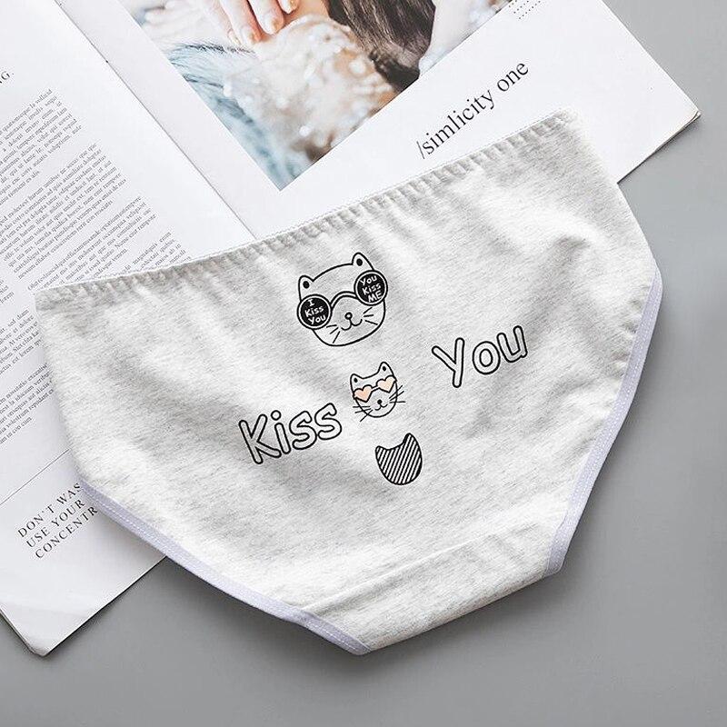 Cartoon Cute Animal Girls Women Panties Bear Cats Soft Cotton Seamless Underwear Briefs Women's Sanitary Pants Sexy Lingerie
