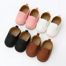 Baby Shoes Leather Moccasin Infant Footwears Black