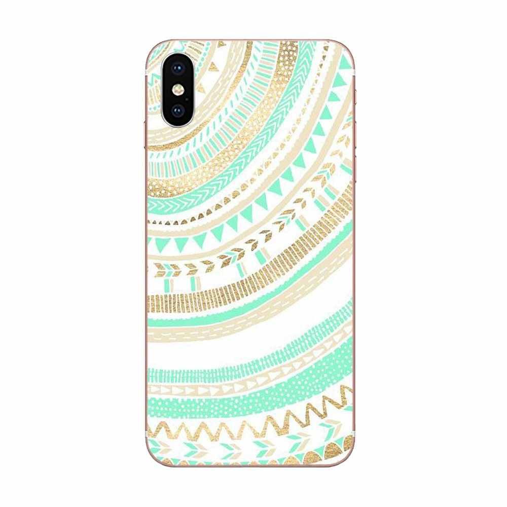 Unik Kualitas Tinggi Ponsel Case untuk Galaxy J1 J2 J3 J330 J4 J5 J6 J7 J730 J8 2015 2016 2017 2018 Mini Pro Green Mint Suku Aztec