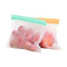 Многоразовый мешок для хранения еды Силиконовый Ziplock герметичный мешок для еды сэндвич/закуски/фрукты продукты на молнии Топ Контейнер Сумки