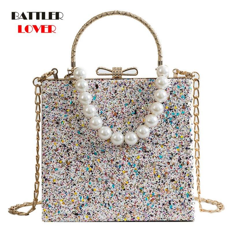 Metal Beading Women Tote Bags Baroque Angel Mini Handbags Luxury PU Leather Shoulder Bag Vintage Chains Messenger Bag Sac A Main