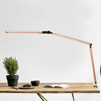 Swing Arm LED Desk Lamp with Clamp Dimmable Table Light for Study Reading Work Office _WK
