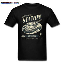 Star Wars Tops Tees Tosche Station Men T-shirt Space Wars Vintage Designer Tshirt 2019 Oversized Male Clothes Boba Fett Sweater(China)