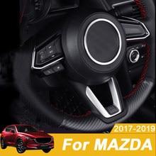 Обшивка руля автомобиля с круглыми блестками, чехол для салона, для Mazda CX-3 2 Demio M3 Axela M6 Atenza 2017 2018 2019