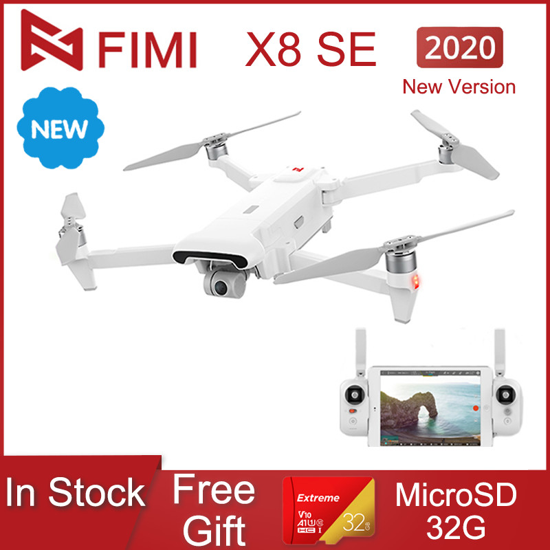 In Stock!New FIMI X8 SE 2020 Camera Drone 8KM FPV 3-axis Gimbal HD4K Camera GPS 35 Mins Flight Time RC Quadcopter RTF