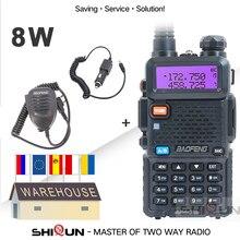 """חם Baofeng UV 5R 8 W או 5W גבוהה כוח 8 ואט עוצמה מכשיר קשר ארוך טווח 10 ק""""מ VHF/UHF dual Band שתי דרך רדיו pofung uv5r"""