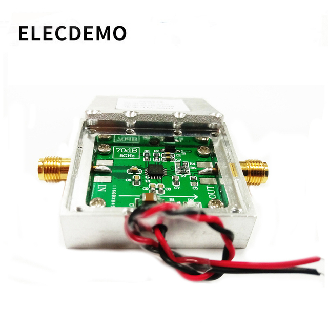 1 8000MHz AD8318With cavity  RF Logarithmic Detector 70dB RSSI Measurement Power Meter Board Module Standard SMA Female