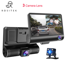 Car DVR Mirror 3Cameras Lens 4.0 Inch Dash Camera Dual With Rearview Video Recorder Auto Registrator Dvrs Cam