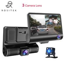 Car DVR Mirror 3Cameras Lens 4.0 Inch Dash Camera Dual Lens With Rearview Camera Video Recorder Auto Registrator Dvrs Dash Cam